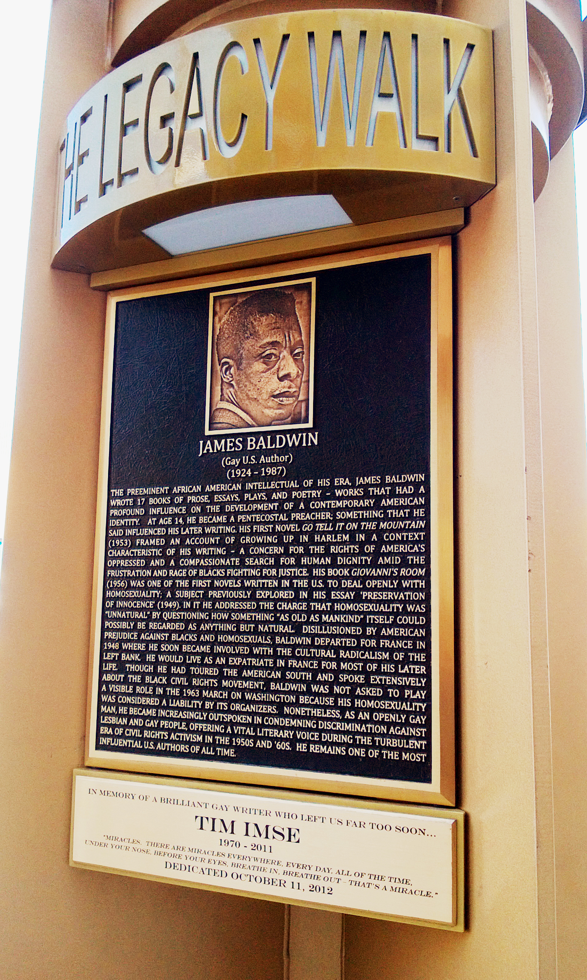 James Baldwin Bronze Memorial