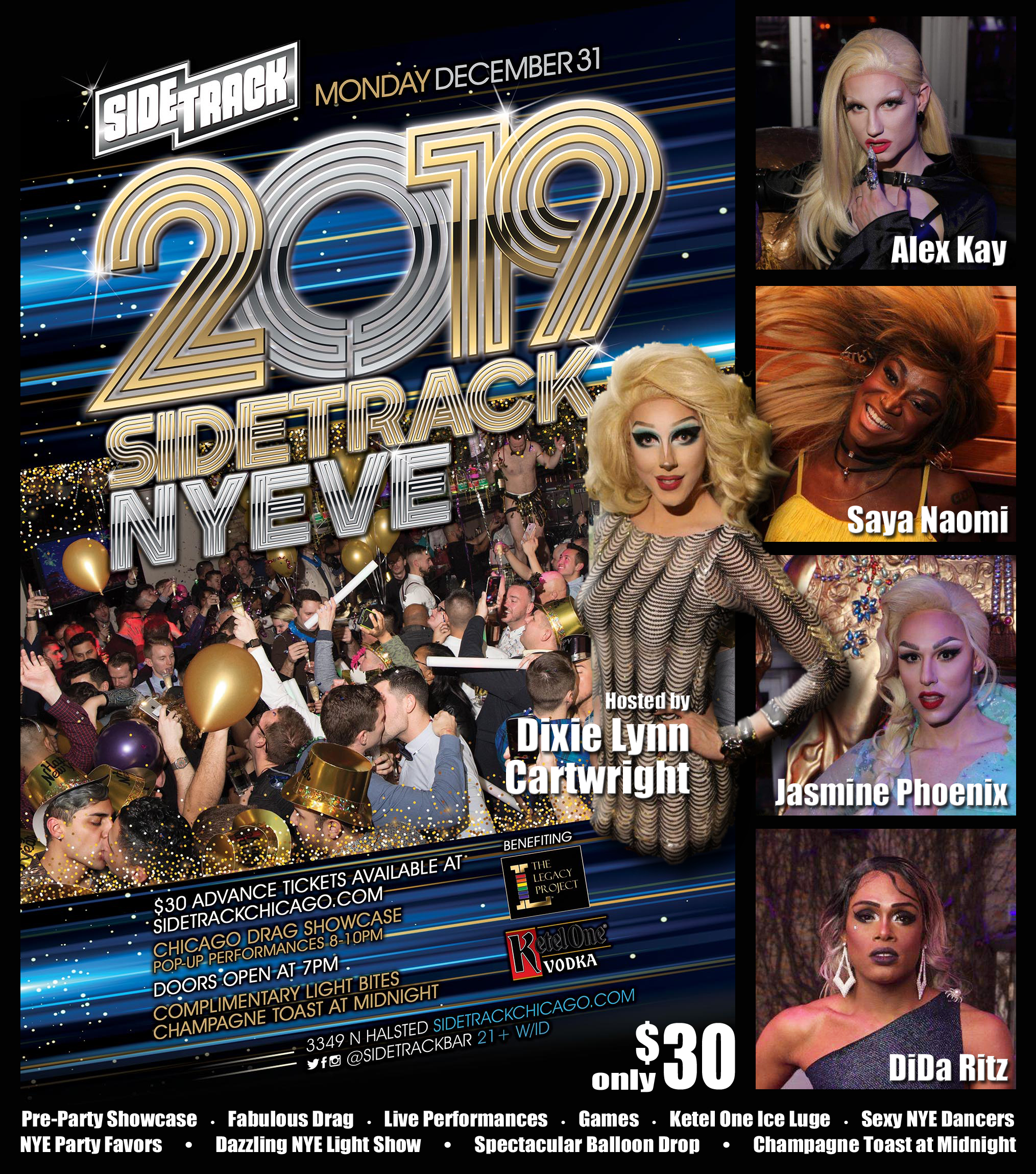 2019 NEW YEARS EVE The Legacy Project at Sidetrack