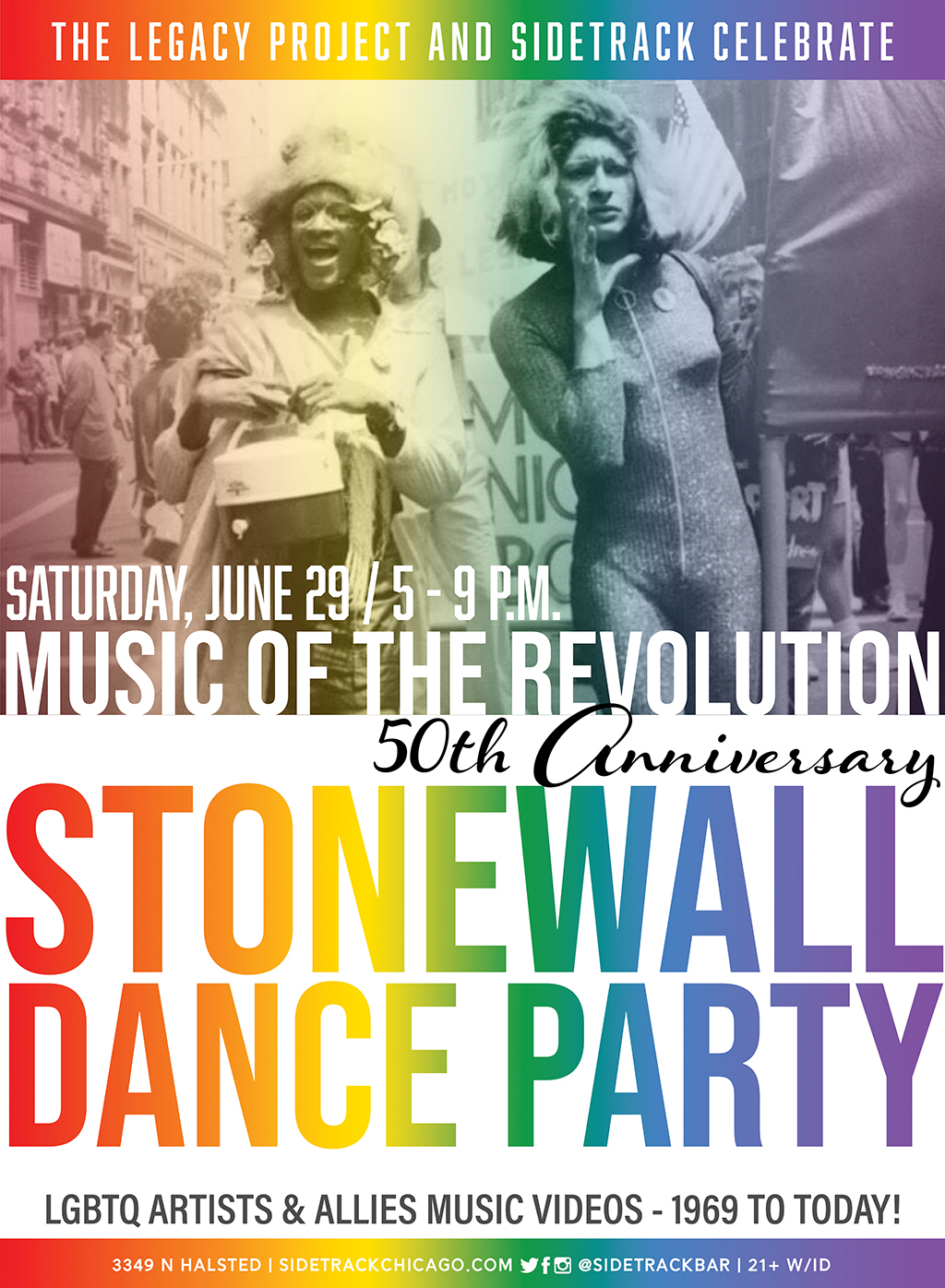 LEGACY PROJECT PRESENTS Stonewall 50 Dance Party 2019