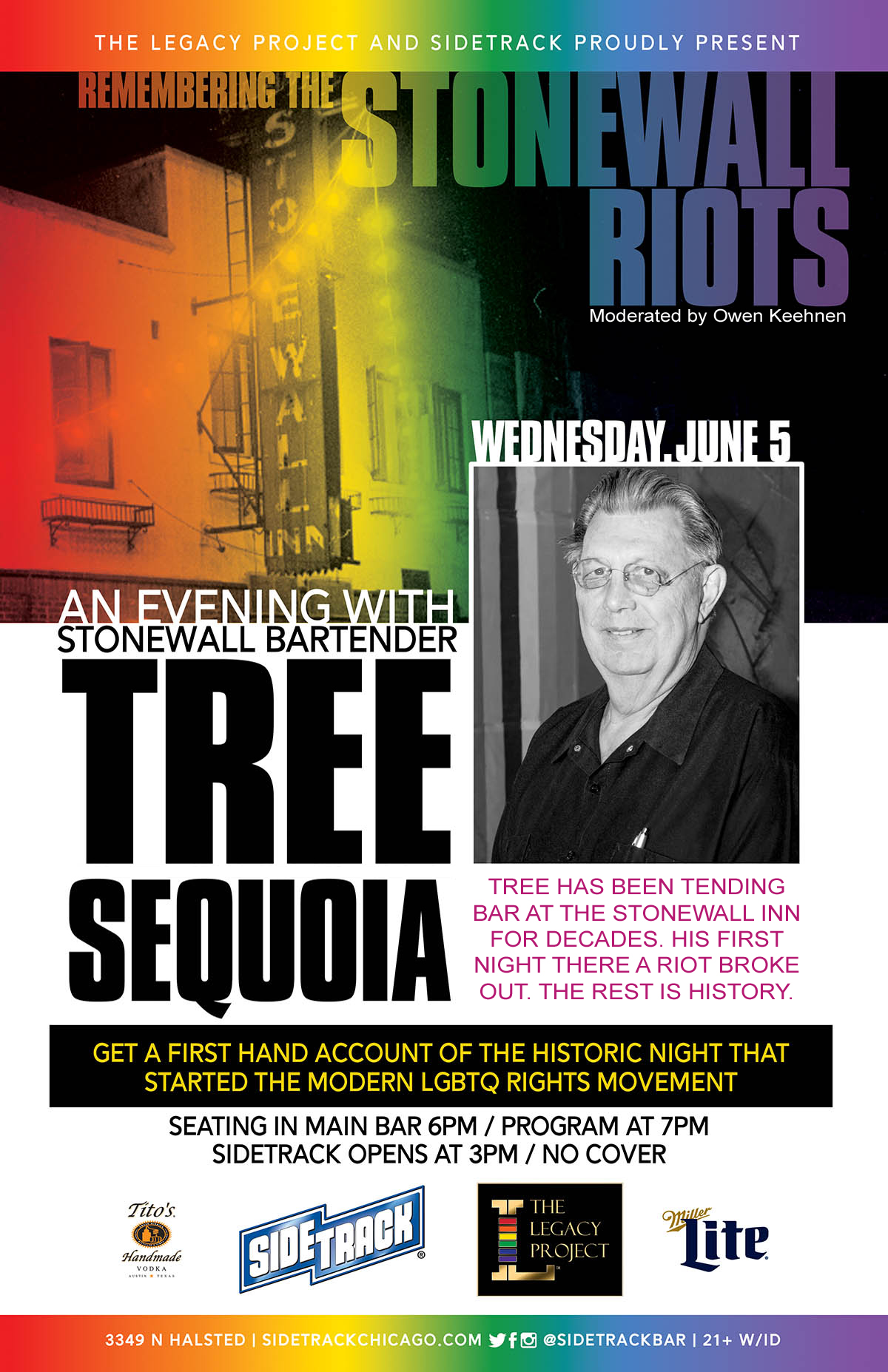 LEGACY LIVE Remembering Stonewall An Evening With Tree Sequoia 2019