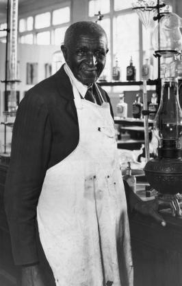 George Washington Carver in His Lab