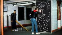 Keith Haring Doing Art in the NYC Subway