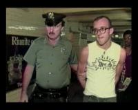 Keith Haring Getting Arrested