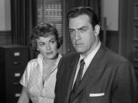 Barbara Hale and Raymond Burr Still From Perry Mason